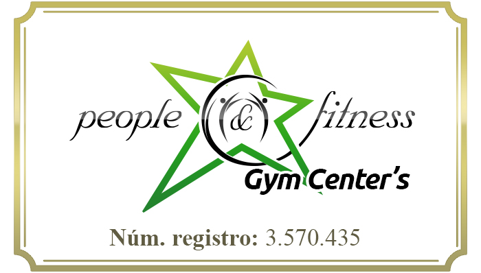 Logotipo people and fitness gimnasios