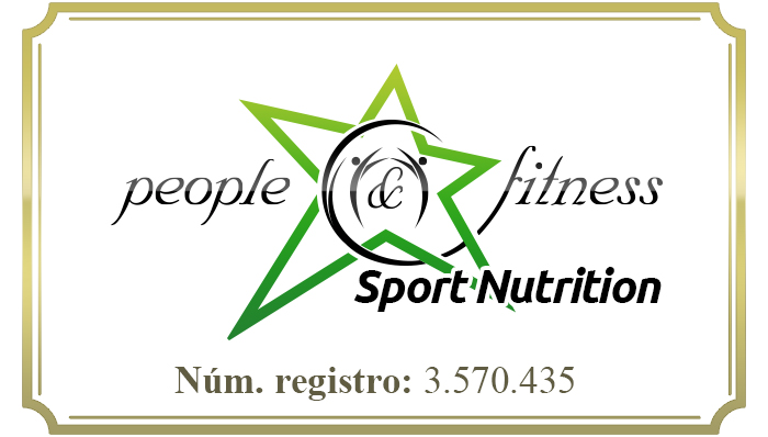 Logotipo people and fitness nutricion deportiva